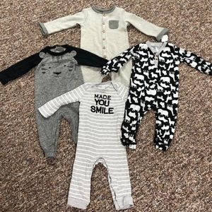 Carter's 4 One Piece Infant 12 Month Outfits
